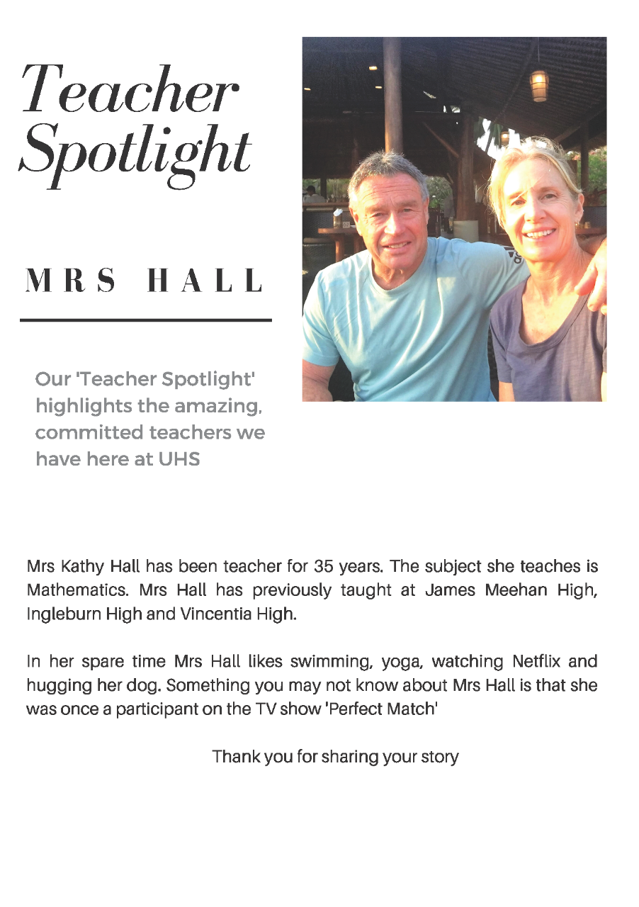Kathy Hall Teacher Spotlight