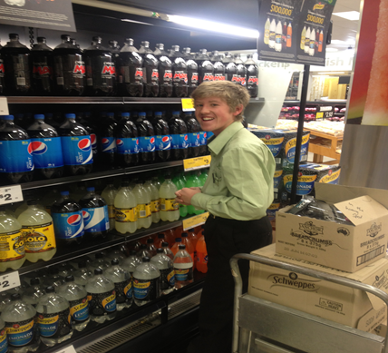 A student is visiting a grocery store.